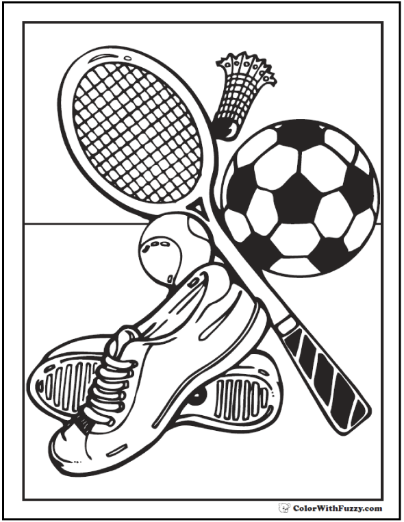 Volleyball Coloring Sheets Print