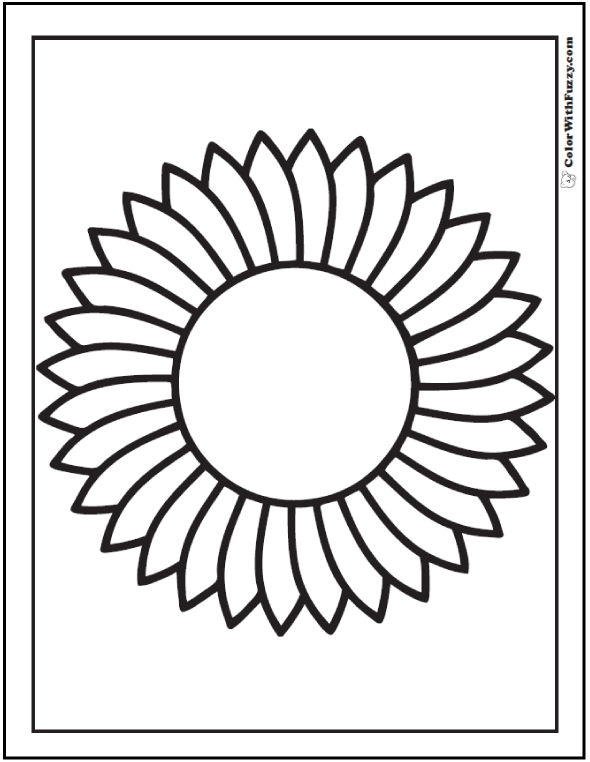 preschool sunflower coloring sheet sunflower stained glass pattern