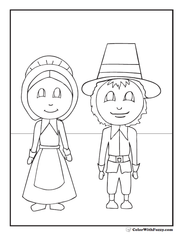 holidays thanksgiving thanksgiving coloring pages pilgrims