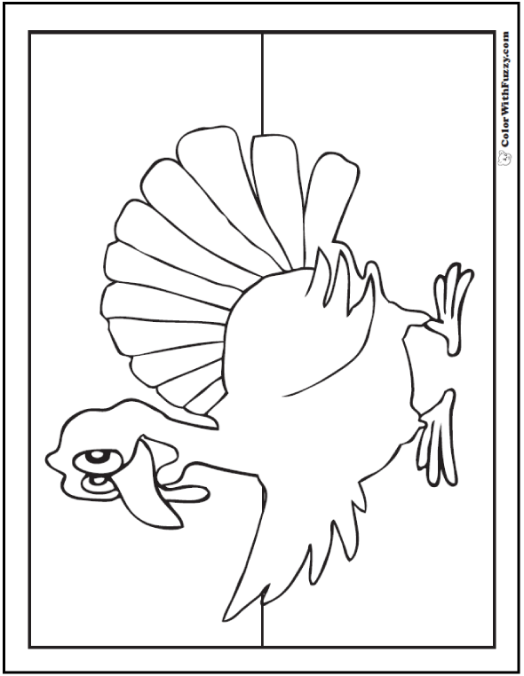 this is one of my funny thanksgiving turkey coloring pages