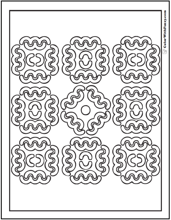 Pattern Coloring Pages Customize PDF Printables