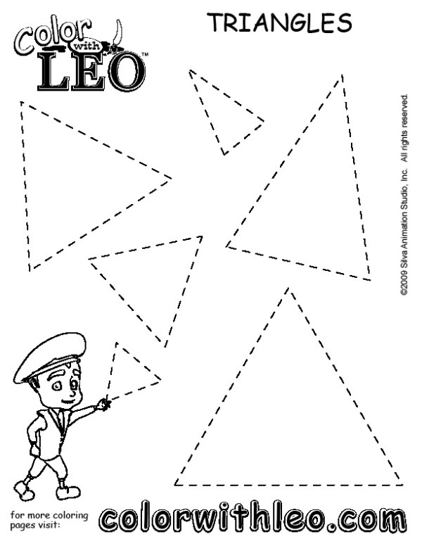 triangle coloring page # 12
