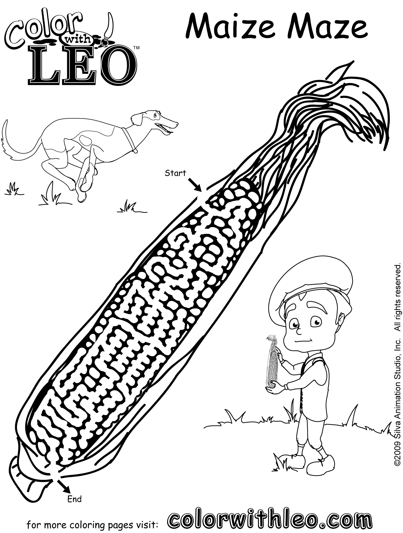Corn Maze Pages Coloring Pages