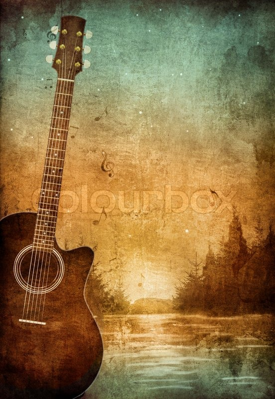 Old Paper Retro Music Party Texture Background Stock