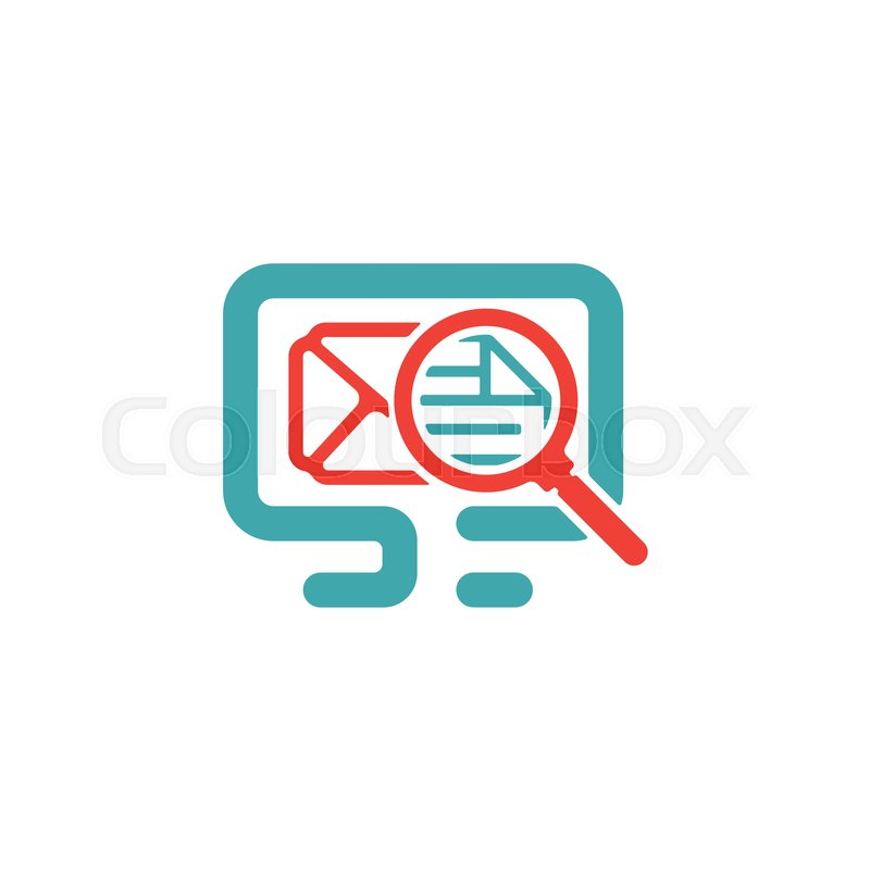 Message Zoom Icon Vector Illustration Mail Sign And Loupe
