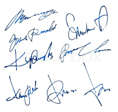 Image result for How to sign a personal signature