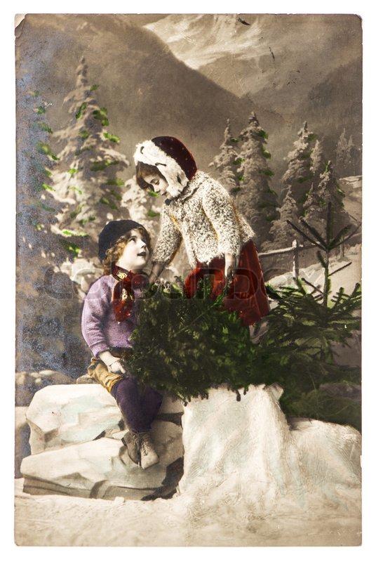 BERLIN GERMANY CIRCA 1915 Nostalgic Christmas Postcard