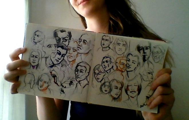 Iris Hopp - sketchbook page