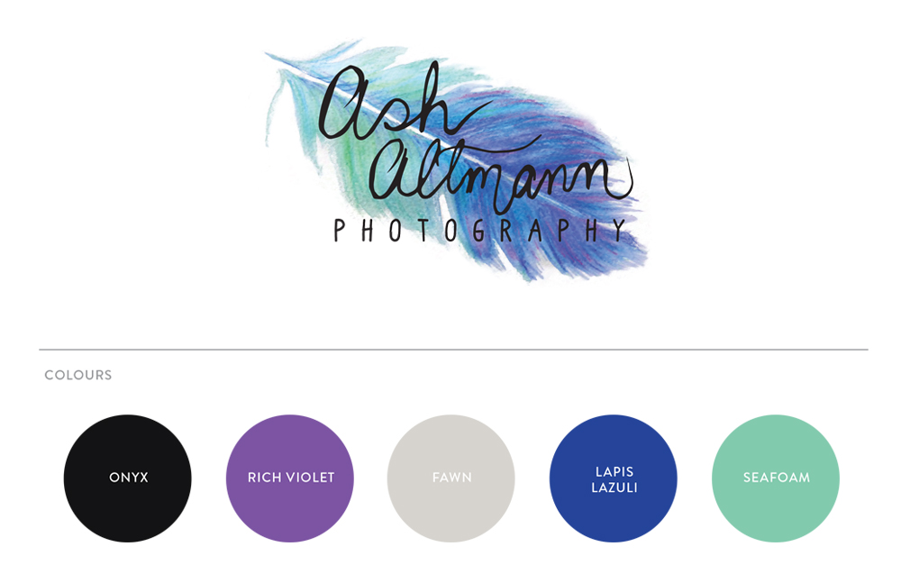 Ash Altmann Photography logo design by Colour Cult, Brisbane.