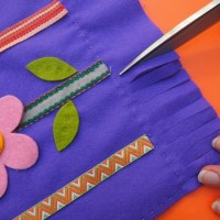 A simple to sew spring flower tote