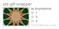 old gift wrapper