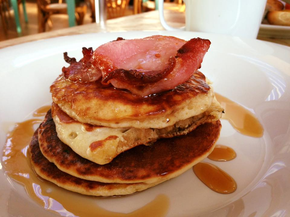 Bacon and Maple Syrup on Pancake