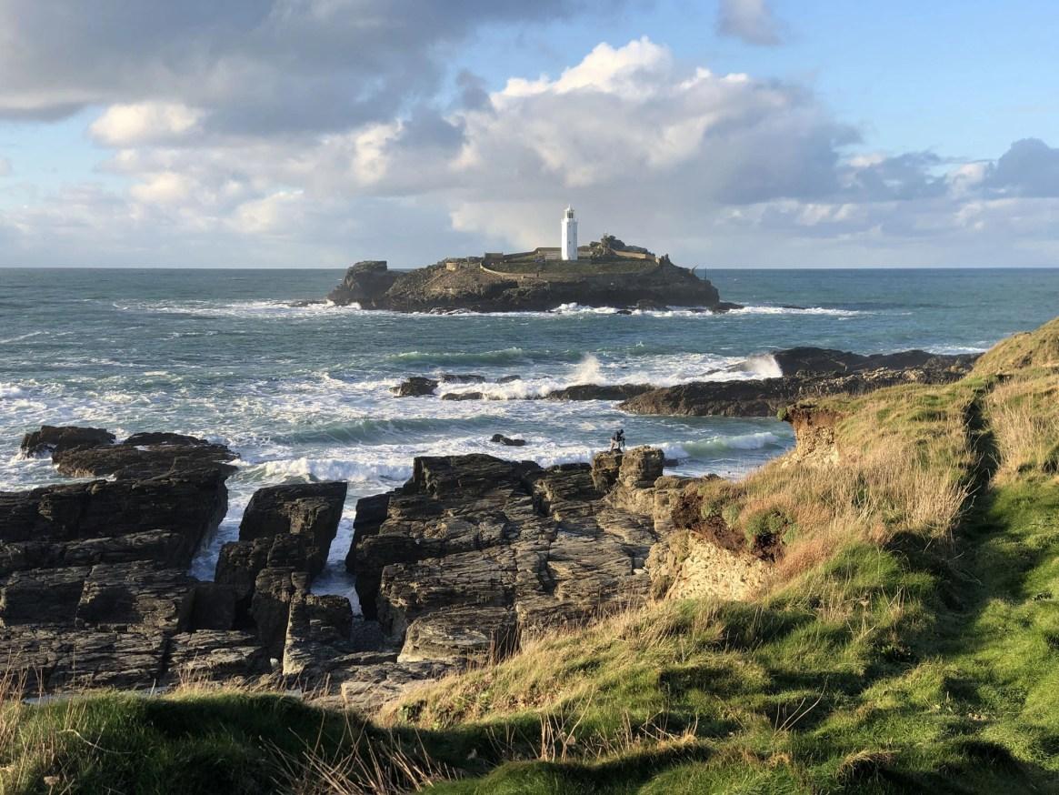 Godrevy Lighthouse from Rocky Coast