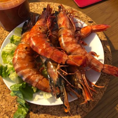 Giant Tiger Prawn Cooked