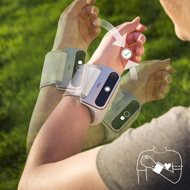 Braun iCheck 7 Wrist Positioning