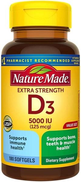 Nature Made Extra Strength Vitamin D3 5000 IU
