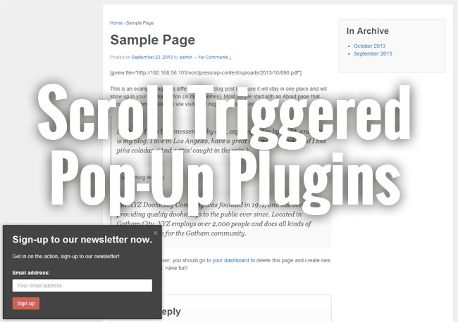 Best Free Scroll Triggered Pop-up Box Plugins - Get it up under 2 minutes