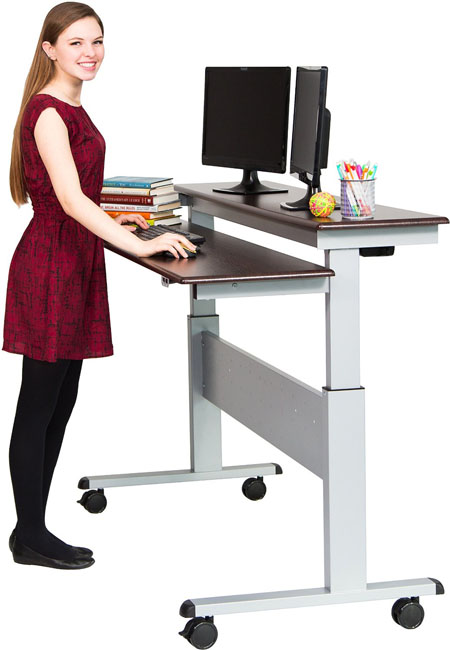 Stand Up Desk 60-inch Split Top Electric Stand Up Desk