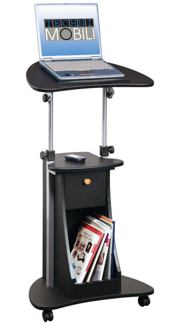 Techni Mobili Deluxe Rolling Laptop Cart