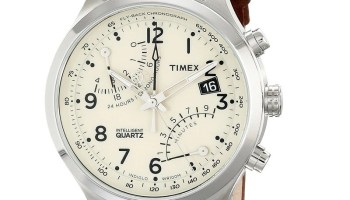 6b422b0a9 Timex Men's Intelligent Quartz Fly-Back Chronograph Watch with Leather Band