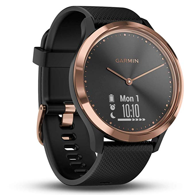 Garmin vivomove HR Hybrid Smart Watch RoseGoldBlackBand
