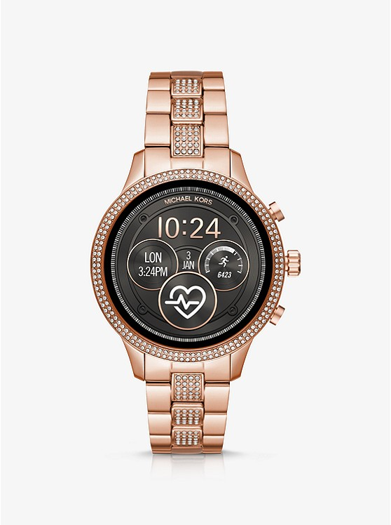 MICHAEL KORS ACCESS Runway Pavé Rose Gold-Tone SmartwatchMKT5052