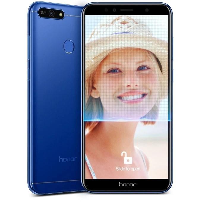 honor7a-face unlock and fingerprint scanner