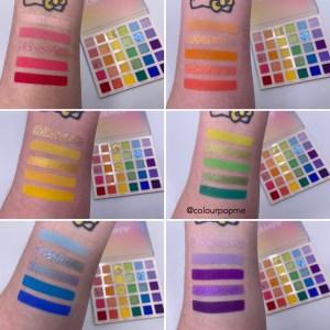 Colourpop FADE INTO HUE palette photos & swatches