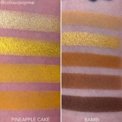 COLOURPOP eye shadow palette comparisons (PINEAPPLE CAKE, BAMBI)