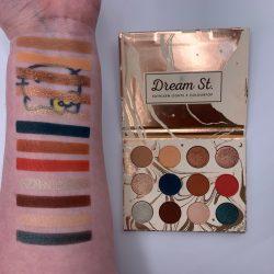 Colourpop DREAM STREET palette swatches