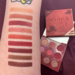 Colourpop WINE & ONLY palette and swatches
