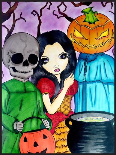 Halloween Coloring Book By Jasmine Becket Griffith