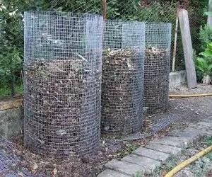 Come fare compostaggio con una compostiera in rete metallica