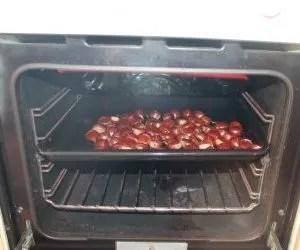 caldarroste-castagne al forno a 180 gradi