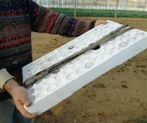Manichette per irrigazione orto nel polistirolo