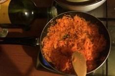 La cottura delle carote