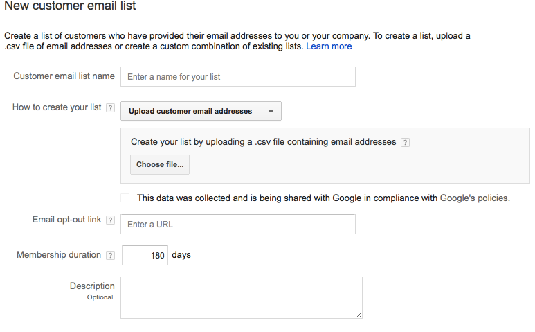 adwords email remarketing