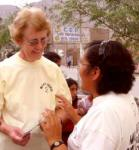 Sister Mary (left) with Carmen Rosa from the Huarmi Huasi Women's Centre
