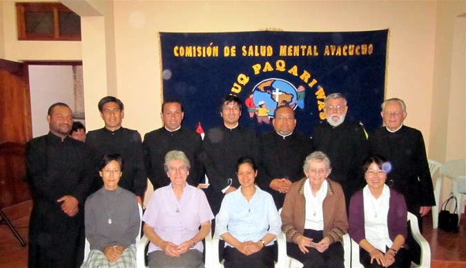 A final photo of call for the Columban Sisters (Srs Martina Kim, Mary McGuinness, Anne Carbon, Eileen Rabbitte and Erisa Lee) and Br Victor Hugo and Community of the Brothers of Charity at the end of the COSMO handover ceremony