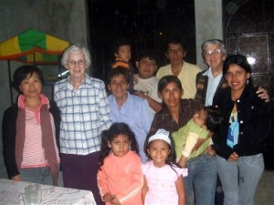 "Bridie with the Sisters and friends from 'el pueblo"" San Martin de Porres"