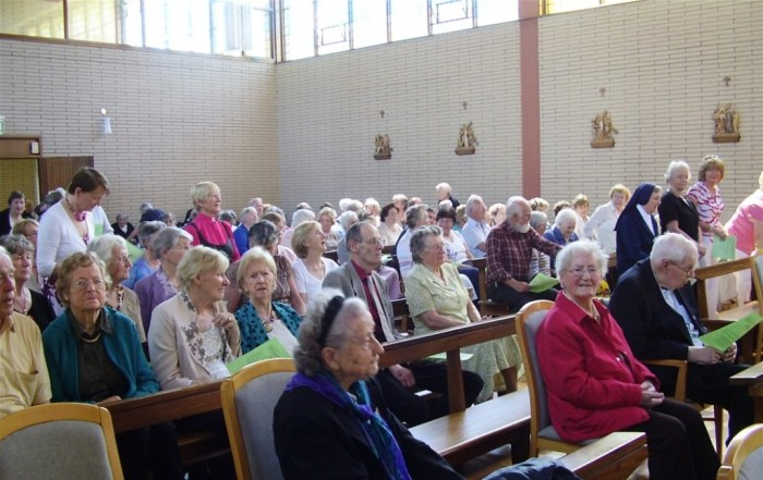 The Sale of Work helpers in the chapel prior to the ceremony