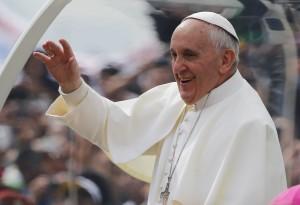 Papa Francisco arrives in Copacabana ,