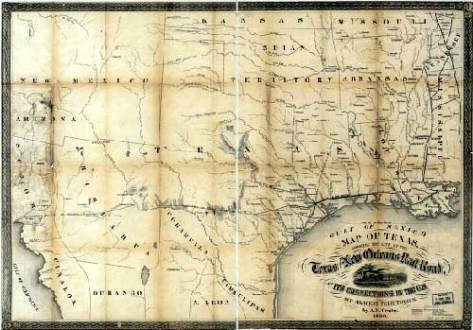 Map of Texas  1860  Map of Texas  1860