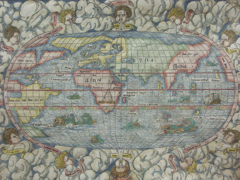 Sebastian Munsteru0027s World Map from the 1553