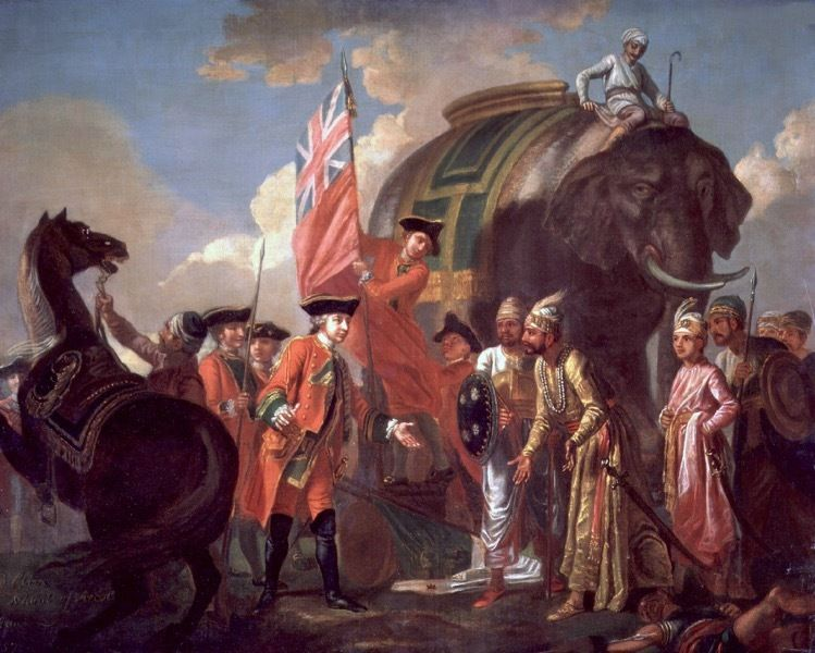 The coup at Plassey - became a 'military' victory for the British!