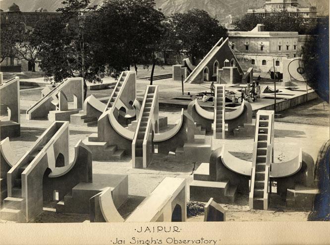 Vintage photo : Jaipur Jantar Mantar