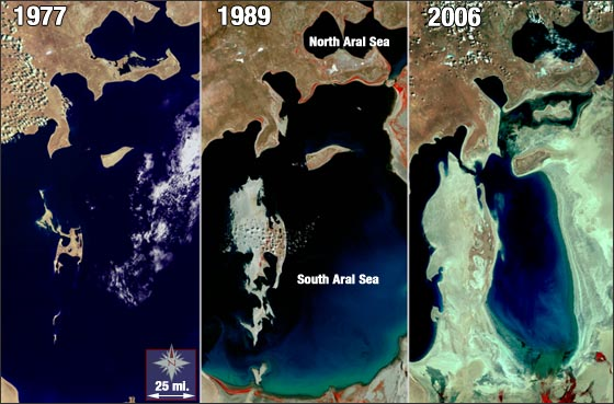 comparisons of the aral sea