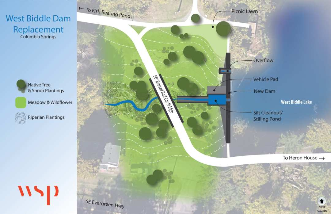 west biddle dam replacement concept drawing