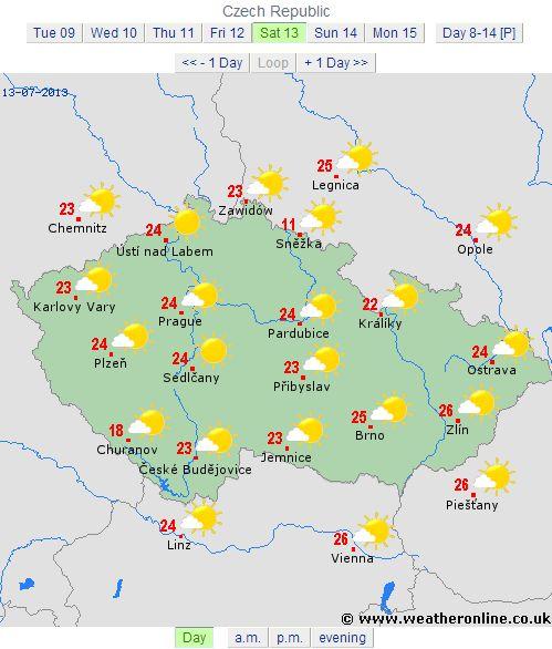 cehia 13 iulie 2013 vremea ziua