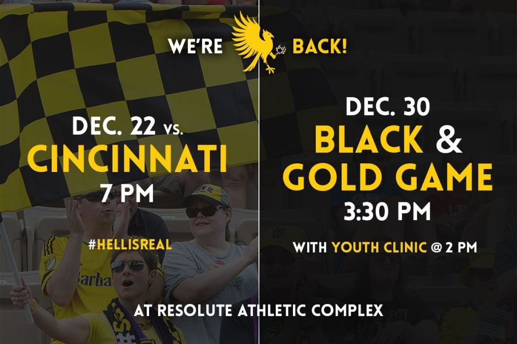 The Eagles play Cincinnati as part of a 2-match slate of friendlies in December.